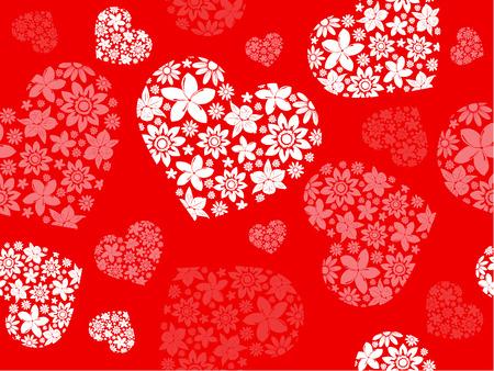 Seameless achtergrond van de bloemen harten