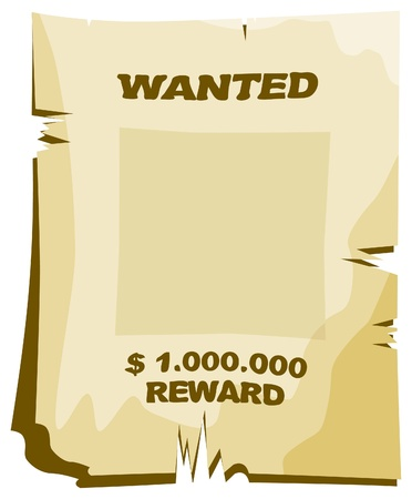 The vector wanted poster of sepia color Stock Vector - 8719414