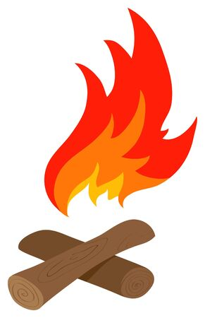 broun: The vector red flame and the wood