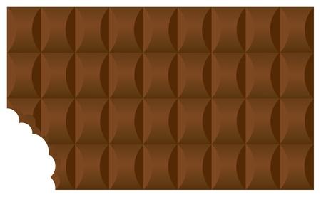 barra de chocolate: El vector broun oscuro tomado una picadura de chocolate barra