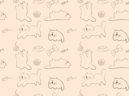 seameless background with a cats silhouettes
