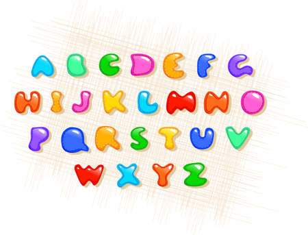 sewing colorful alphabet on a fabric background Stock Photo - 9152935