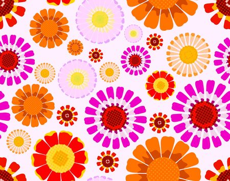 orange gerbera: Daisy seamless background