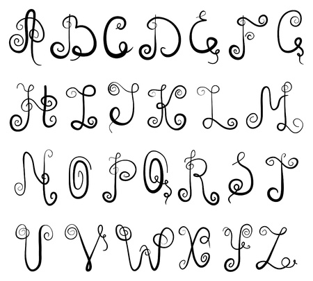 Alphabet de vignette Illustration