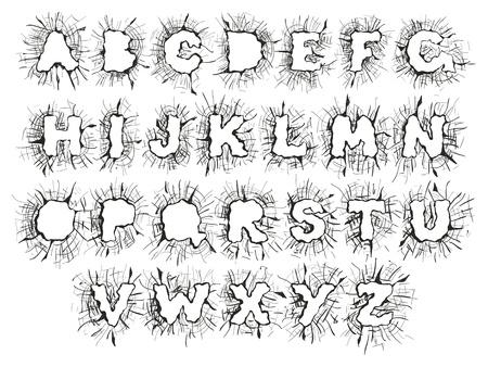 cracks: Splitter alphabet
