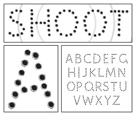 Shooter alphabet Vector