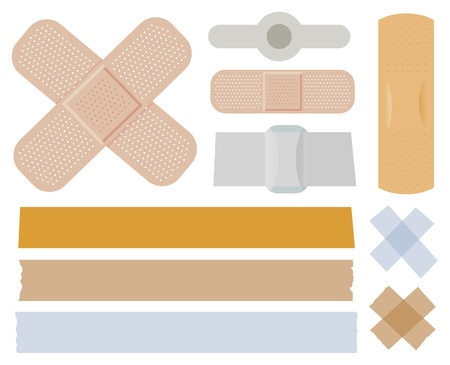 Bandages collection Stock Vector - 10485482