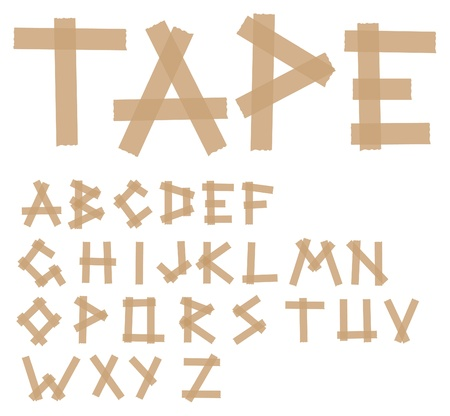 tapes: Adhesive tape alphabet