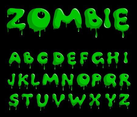 Zombie alphabet Stock Vector - 10658543