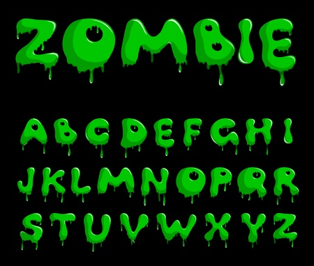 zombie: Zombie alphabet