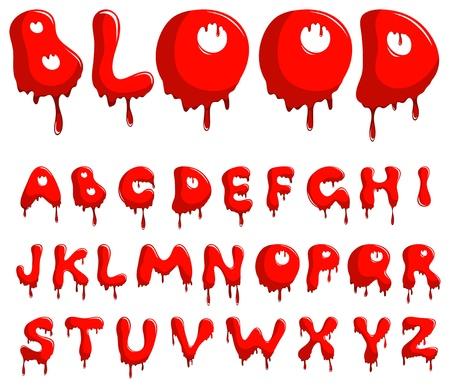 blood type: Alfabeto de sangre Vectores