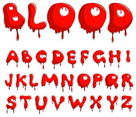 runny: Blood alphabet