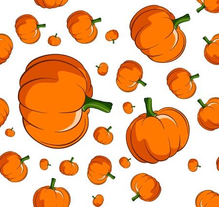 Pumpkin seamless background