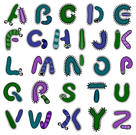 Bacterium alphabet Stock Vector - 10874213