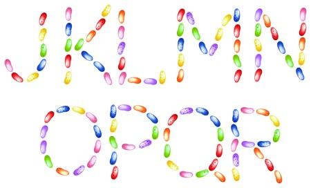 Jelly beans alfabeto