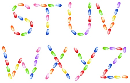 Jelly beans alphabet Stock Vector - 11104533