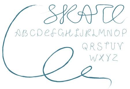 ice alphabet: Skate alphabet