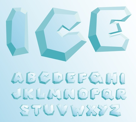 ice crystal: Ice alphabet
