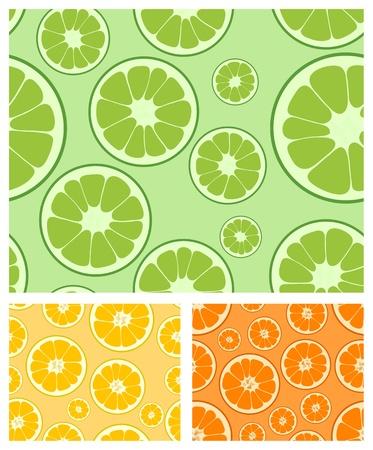 lemon lime: Vector limone, lime e arancio raccolta sfondo trasparente