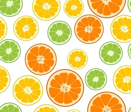 lime: Vector lemon, lime and orange seamless background Illustration