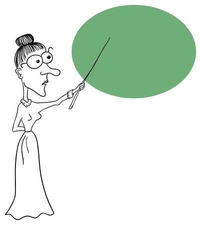 Enseignant prim Vecteur est isol� sur un fond blanc