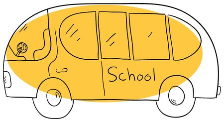 Vector schoolbus is isolated on a white background Vector