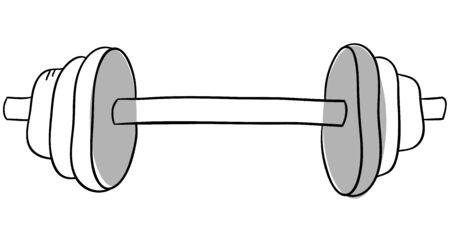 dumbell: Vector dumbell � isolato su uno sfondo bianco
