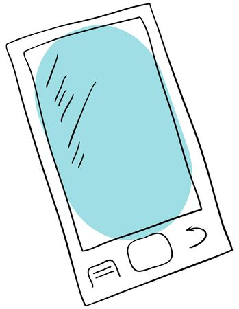 smartphone is isolated on a white background Vector