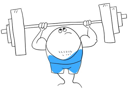 weightlifter: weightlifter is isolated on a white background