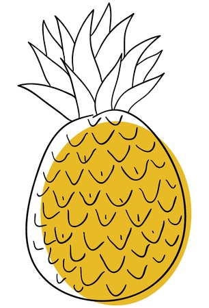 pineapple is isolated on a white background Stock Vector - 14493810