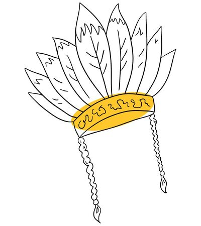 redskin: Vector Native hat is isolated on a white background Illustration