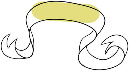 Vector ribbon is isolated on a white background Vector