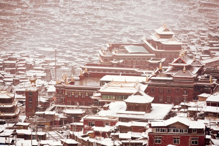 China, Sichuan color Daxian, WUMING Buddhist Institute photo