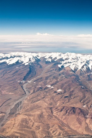 China Xinjiang Tianshan Mountains, aerial  photo