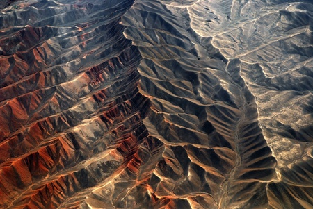 iron ore: Tianshan Mountains, China Stock Photo