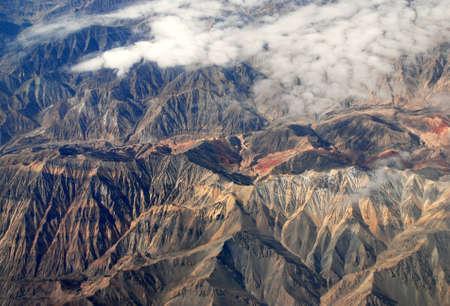 China Xinjiang Tianshan Mountains, aerial