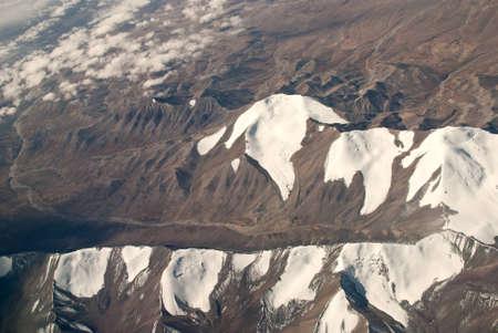 China Xinjiang Tianshan Mountains, aerial  photo