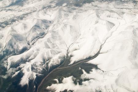 China Xinjiang Tianshan Mountains, aerial Stock Photo - 12856746