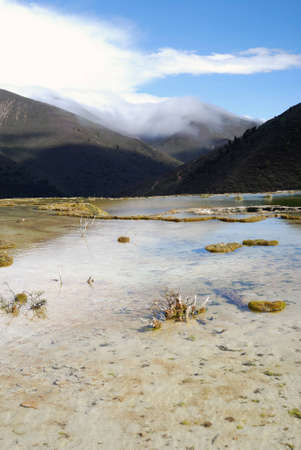 calcification: China, Sichuan Kangding, the pool elevation of 4,000 meters of natural calcification