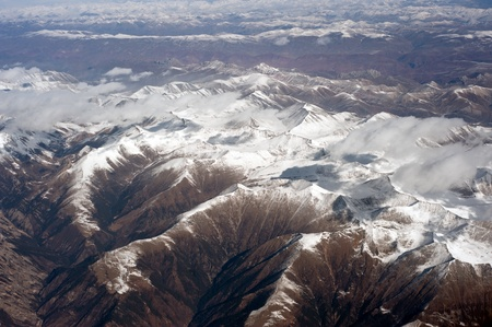 Aerial photography, Tibet, the Himalayan Hengduan Mountains Stock Photo - 12908571