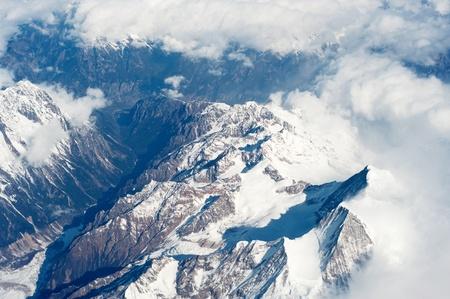 La photographie a�rienne, le Tibet, l'Himalaya Hengduan