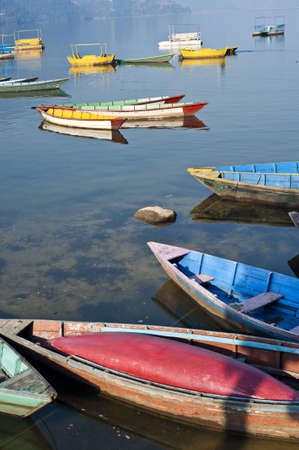 pokhara: Phewa Lake in Pokhara, Nepal