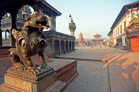 Bhaktapur Durbar Square, N�pal Banque d'images