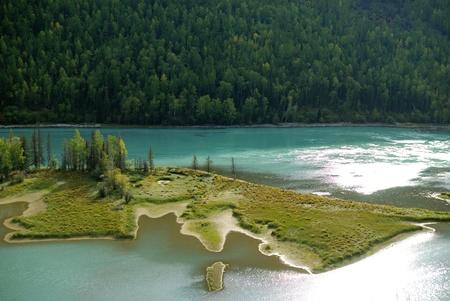 xinjiang: Chine Xinjiang paysage, Kala Si Lake