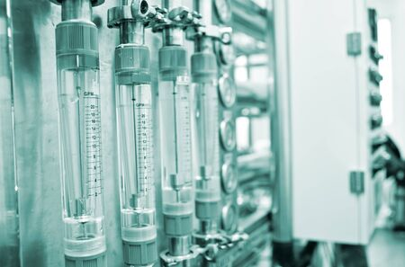 water treatment: Water Treatment motor room Stock Photo