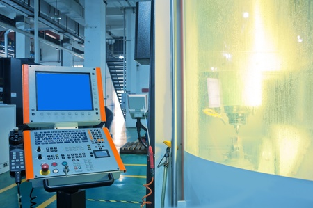 Les travailleurs de l'op�ration de machines-outils CNC