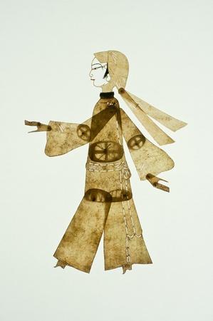 puppetry: Arte chino de teatro de sombras, un drama popular antigua, mil a�os de historia