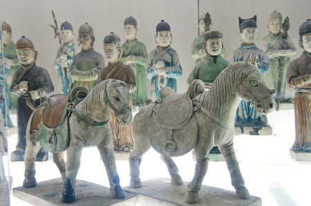 cultural artifacts: Chinese ancient characters statue