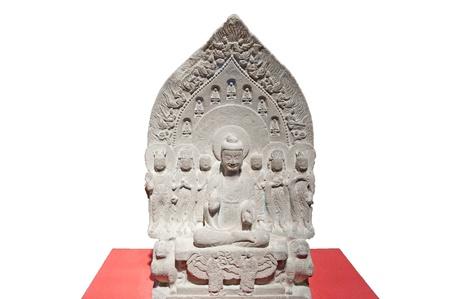stone buddha: Chinese ancient stone Buddha head