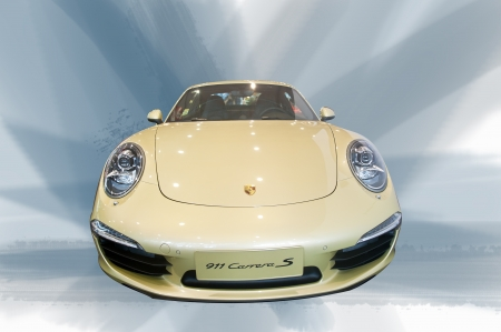 Beijing, en Chine, le 23 Avril 2012: Salon de l'auto de Beijing, ford sport Porsche voiture locale, P�kin, en Avril 2012, �ditoriale